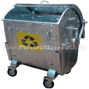 Мусорный контейнер оцинкованный 1100 л | Мусорные баки, контейнеры и тележки для дворников | Урны, пепельницы, корзины, тележки и баки для мусора