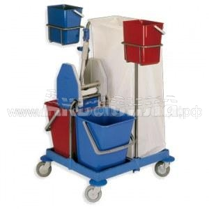 BOL Equipment Тележка универсальная на пластиковой базе 95.105 | Многофункциональные уборочные тележки | Уборочные тележки и ведра на колёсах