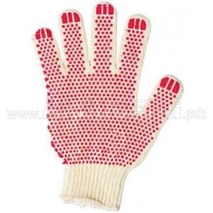 Перчатки трикотажные 3-х нитка (с рисунком ПВХ)   Перчатки и защита рук   Одноразовая продукция и средства защиты