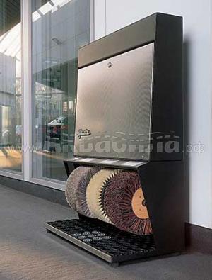Heute Polifix 3 Steel | Офисные аппараты для чистки обуви | Аппараты для чистки обуви
