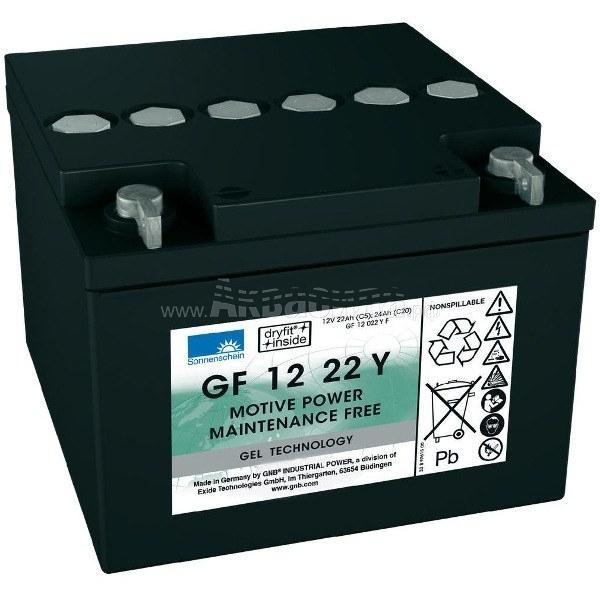 Sonnenschein GF 12 022 Y F Гелевый аккумулятор 12В 22Ач   Аккумуляторы для поломоечных и подметальных машин   Аксессуары и комплектующие