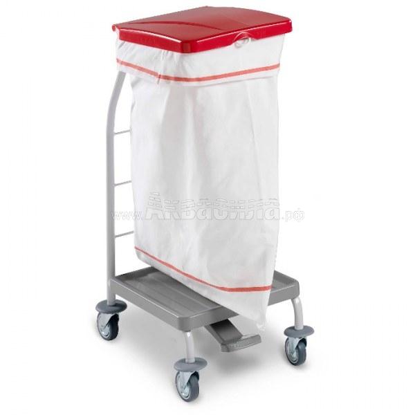 TTS Тележка для сбора мусора Dust (70 л) | Уборочные тележки для сбора мусора | Урны, пепельницы, корзины, тележки и баки для мусора