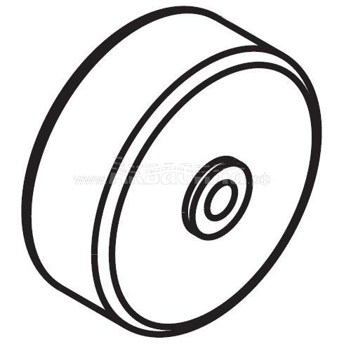Columbus Опорное колесо для всасывающей балки для RA43, RA55 | Запчасти для поломоечных машин | Аксессуары и комплектующие