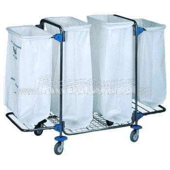 Bol Equipment Тележка для сбора мусора 95.128 (4х120 л) | Уборочные тележки для сбора мусора | Урны, пепельницы, корзины, тележки и баки для мусора