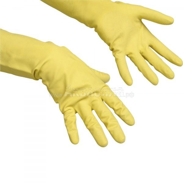 Vileda Professional Перчатки резиновые Contract 10 пар (размер XL) | Перчатки и защита рук | Одноразовая продукция и средства защиты