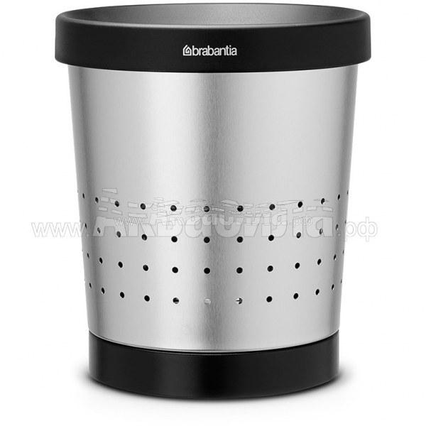 Brabantia Корзина для бумаг 5 л (зеркальный хром) | Корзины для бумаг | Урны, пепельницы, корзины, тележки и баки для мусора