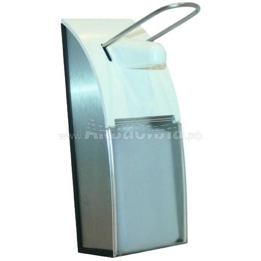 NOFER 03013.AL Локтевой дозатор для мыла 500 мл (алюминий)