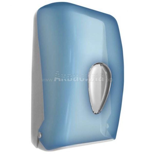 NOFER 05118.T Диспенсер листовой туалетной бумаги (синий)