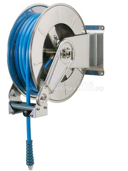 Ramex Барабан стальной окрашенный с инерционным механизмом AV 1000 FE | Катушки и барабаны инерционные для автомоек | Оборудование для автомоек