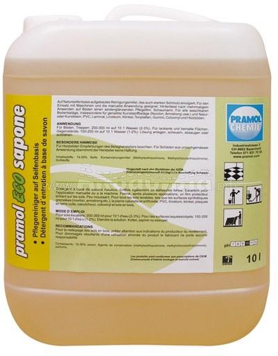 PRAMOL ECO-SAPONE Экологичное средство для очистки поверхностей | Чистка полов, твёрдых и стеклянных поверхностей | Клининг и профессиональная уборка | Химические и моющие средства