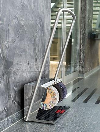 Heute Polifix 2 Plus Chrome | Офисные аппараты для чистки обуви | Аппараты для чистки обуви