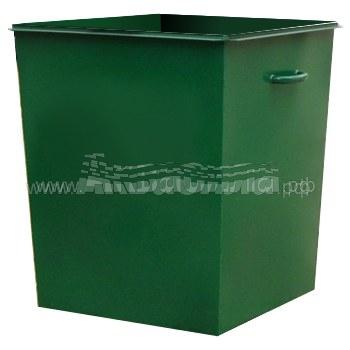 Мусорный бак без крышки без колёс 750 л   Мусорные баки и контейнеры   Урны, пепельницы, корзины, тележки и баки для мусора