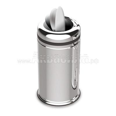 EFOR Metal Мусорная корзина с вращающейся крышкой 11 л | Вёдра, урны и корзины для мусора | Урны, пепельницы, корзины, тележки и баки для мусора