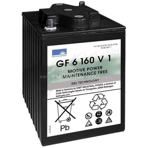 Sonnenschein GF 06 160 V1 Гелевый аккумулятор 6В 160Ач   Аккумуляторы для поломоечных и подметальных машин   Аксессуары и комплектующие
