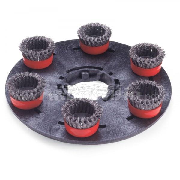 Numatic Жёсткая щетка с головками Spirotex 400 мм | Аксессуары для однодисковых и роторных машин | Аксессуары и комплектующие