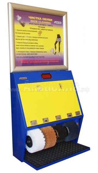 Eco Line ЭКО Люкс 4 Крем (платёжный терминал с рекламным щитом) | Платные автоматы для чистки обуви | Аппараты для чистки обуви