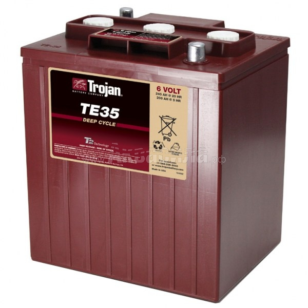 Trojan TE35 Аккумулятор с жидким электролитом 6В 201Ач