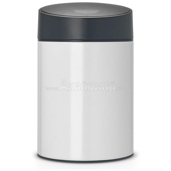 Brabantia Урна Slide 5 л (белая) | Вёдра, урны и корзины для мусора | Урны, пепельницы, корзины, тележки и баки для мусора