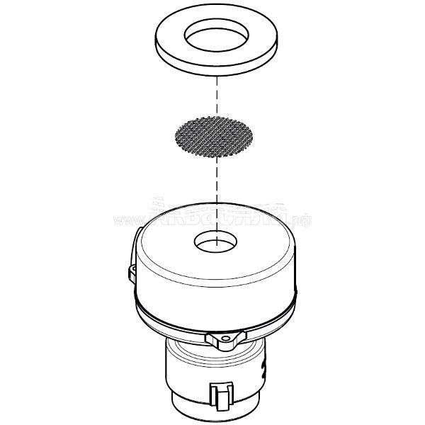 Columbus Всасывающая турбина 24В 350Вт для RA43, RA55 | Двигатели всасывающие для поломоечных машин | Аксессуары и комплектующие