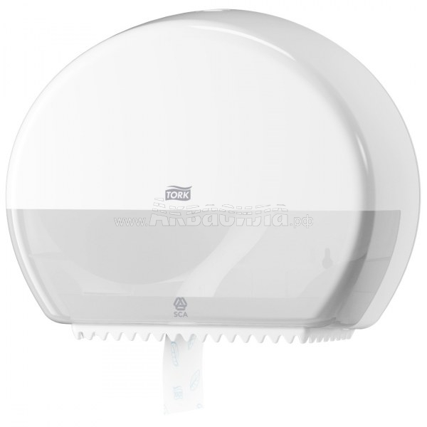 Tork T2  Диспенсер туалетной бумаги в мини-рулонах Jumbo (белый) | Держатели туалетной бумаги в рулонах | Оборудование для туалетных и ванных комнат