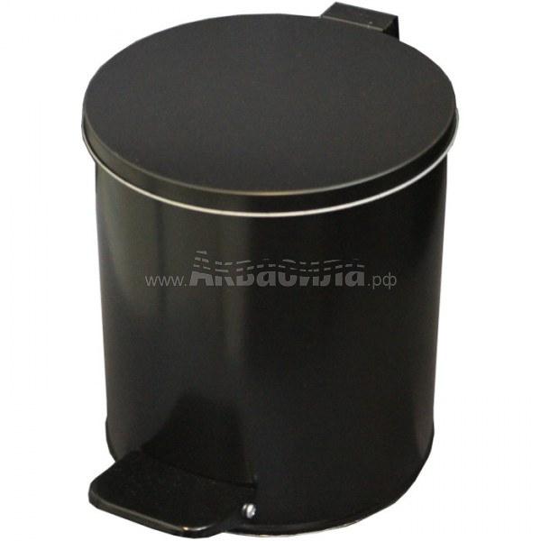TITAN Урна круглая с педалью 7 л   Вёдра и урны для мусора   Урны, пепельницы, корзины, тележки и баки для мусора