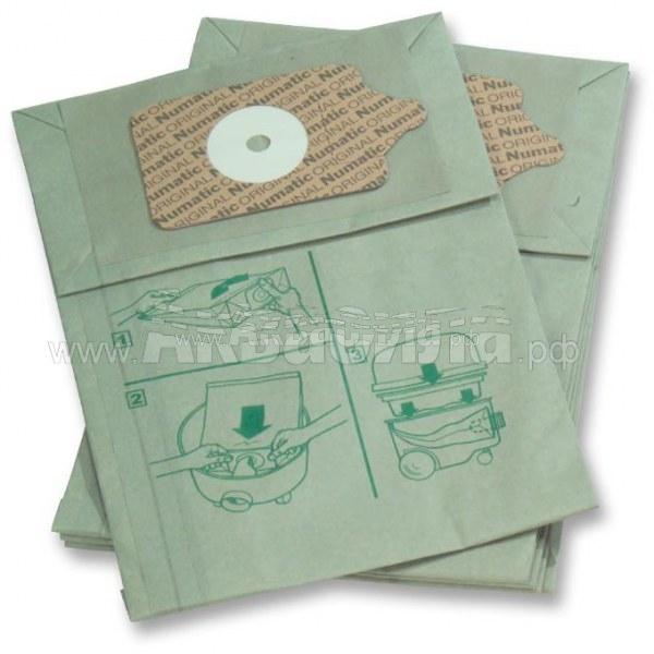 Numatic Фильтр-мешки NVM-3B (23 л) | Мешки оригинальные, фильтр-пакеты, фильтр-мешки | Аксессуары для профессиональных пылесосов | Аксессуары и комплектующие