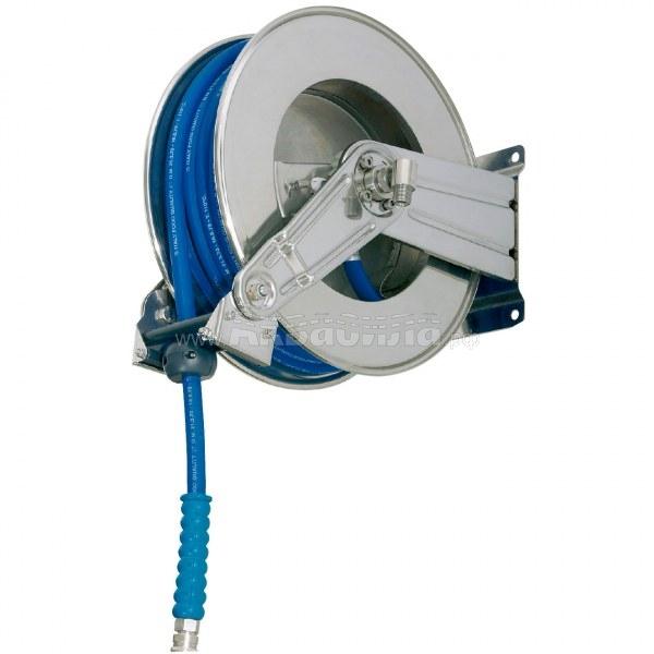 Ramex Барабан из нержавеющей стали с инерционным механизмом AV 1000 | Катушки и барабаны инерционные для автомоек | Оборудование для автомоек