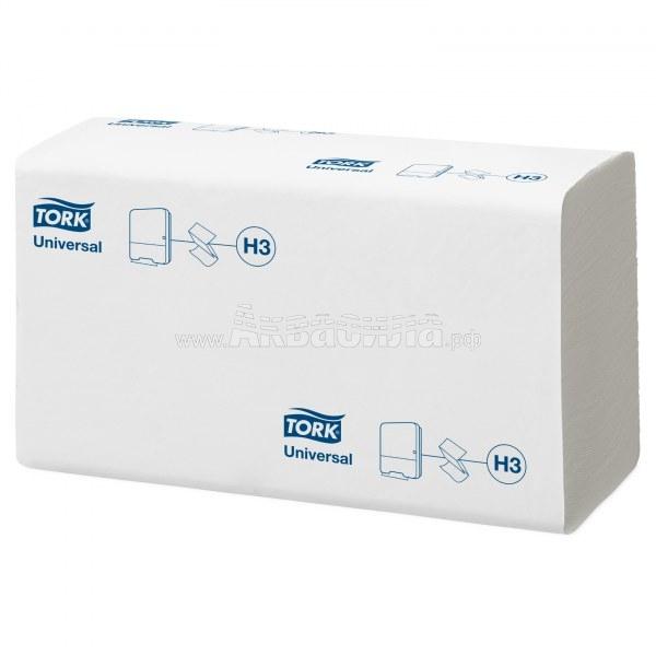 Tork Universal H3 Листовые полотенца Singlefold сложения ZZ | Расходные материалы | Оборудование для туалетных и ванных комнат