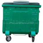 Мусорный контейнер окрашенный с пластиковой крышкой с педалью 1100 л