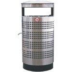 DS Перфорированная мусорная урна с пепельницей 70 л (нержавеющая)